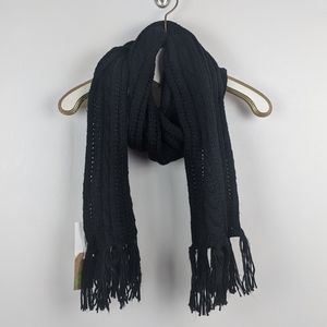 Forever 21 Black Cable Knit Scarf - NWT